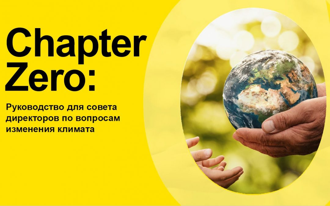 Chapter Zero: A climate change boardroom toolkit.