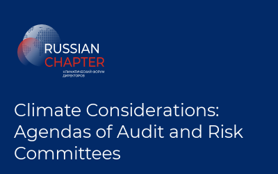Climate Considerations: Agendas of Audit and Risk Committees