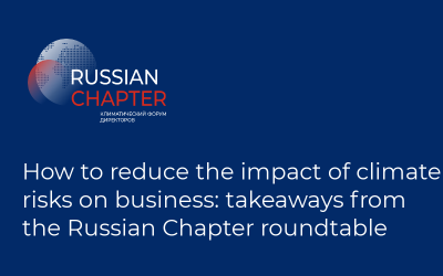 How to reduce the impact of climate risks on business: takeaways from the Russian Chapter roundtable